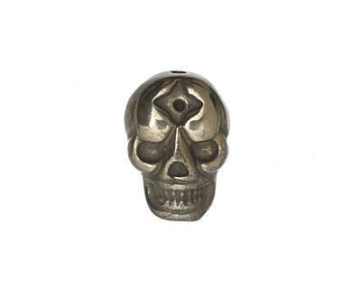 Golden Pyrite Flat Skull 19x13mm