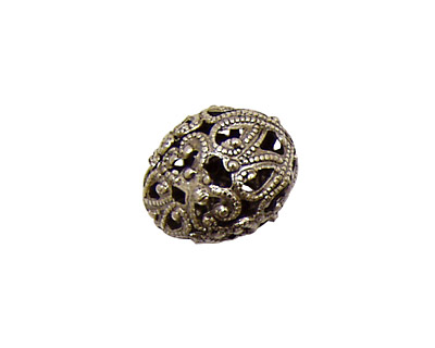 Stampt Antique Pewter (plated) Filigree Teardrop Bead 17x14mm