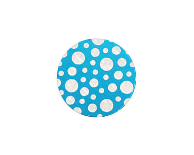 Lillypilly Turquoise Scattered Dots Anodized Aluminum Disc 19mm, 24 gauge
