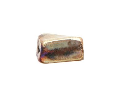 Xaz Raku Gold Luster Twisted Brick 13-17x9-10mm