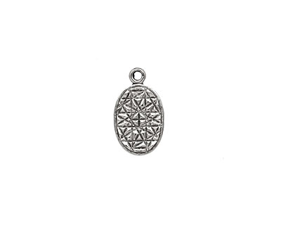 Stampt Antique Pewter (plated) Oval Tag 9x15mm