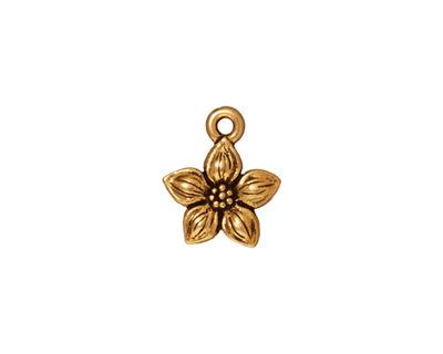 TierraCast Antique Gold (plated) Star Jasmine Charm 12x14mm