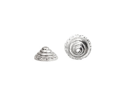 Nunn Design Sterling Silver (plated) Sea Spire Bead Cap 6x11mm