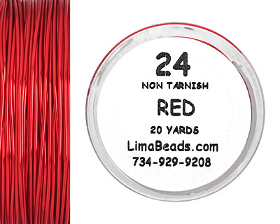 Parawire Red 24 Gauge, 20 Yards