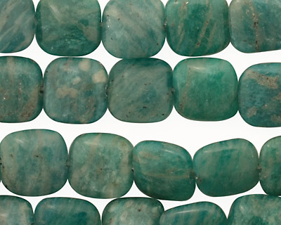 Russian Amazonite Puff Square 10mm