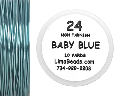 Parawire Baby Blue 24 Gauge, 10 Yards