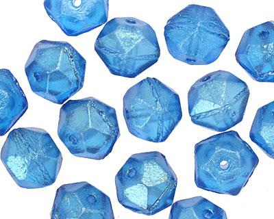 Czech Glass Capri Luster English Cut Bead 8x10mm
