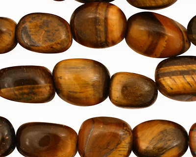 Tiger Eye Tumbled Nugget 10-15x9-12mm