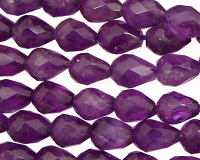 Amethyst Faceted Teardrop 11x8mm