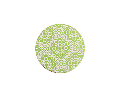 Lillypilly Lime Green Baroque Anodized Aluminum Disc 19mm, 24 gauge