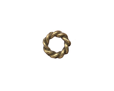 Antique Brass (plated) Coiled Ring 11mm