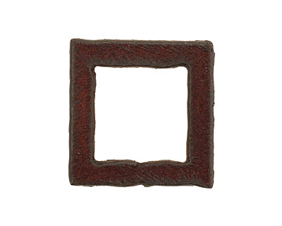 The Lipstick Ranch Rusted Iron Small Square Connector 24mm