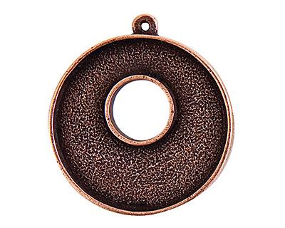 Nunn Design Antique Copper (plated) Grande Circle Bezel Toggle 37x32mm