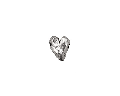 Rustic Charms Sterling Silver Rustic Heart 8x9mm