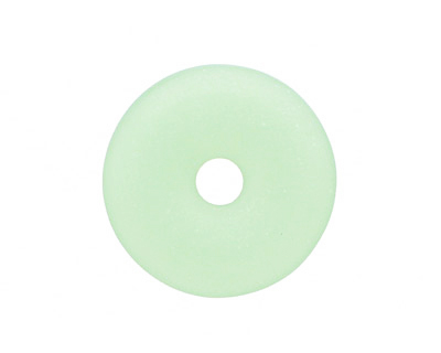 Opaque Spring Green Recycled Glass Donut 25mm