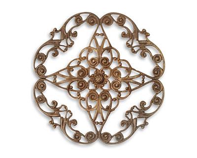Vintaj Natural Brass Full Diamond Circle Filigree 61mm