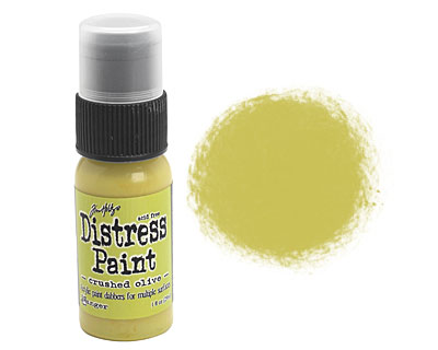 Tim Holtz Crushed Olive Distress Paint Dabber 29ml