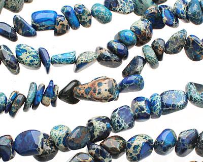Midnight Blue Impression Jasper Tumbled Nugget 5-8x10-12mm