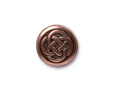 TierraCast Antique Copper (plated) Celtic Knot Button 16mm