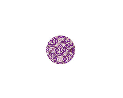 Lillypilly Purple Baroque Anodized Aluminum Disc 11mm, 24 gauge