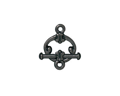 TierraCast Gunmetal Classic Toggle Clasp 15x12mm, 16mm bar