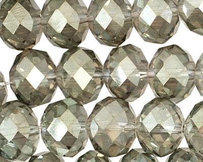 Luster Sage Crystal Faceted Rondelle 14mm