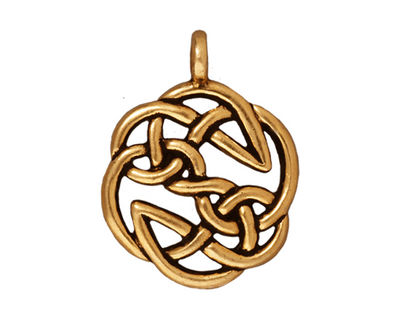 TierraCast Antique Gold (plated) Open Knot Pendant 23x30mm