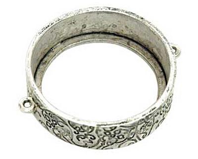 Nunn Design Antique Silver (plated) Grande Circle Open Bezel Link 42x35mm