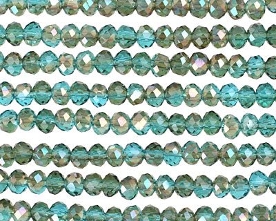 Apatite Golden Shadow Crystal Faceted Rondelle 4mm
