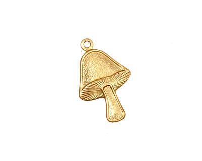 Brass Mushroom Charm 13x20mm