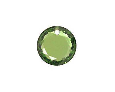 Emerald Faceted Coin 16mm
