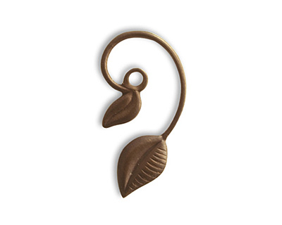 Vintaj Natural Brass Tanglewood Charm 27x20mm