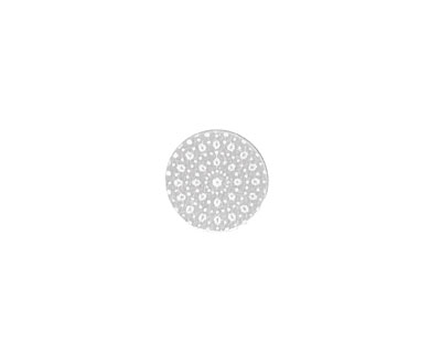 Lillypilly Silver Crochet Anodized Aluminum Disc 11mm, 22 gauge