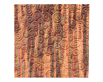 Lillypilly Enchantment Groovy Circles Embossed Patina Copper Sheet 3