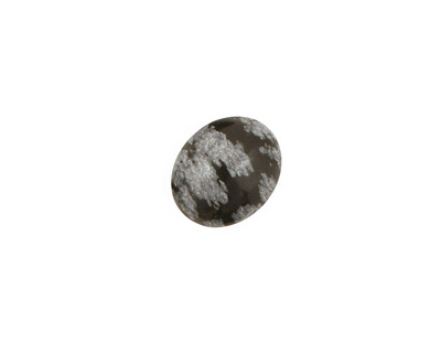 Snowflake Obsidian Oval Cabochon 10x12mm