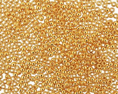 TOHO Metallic 24k Gold Round 11/0 Seed Bead
