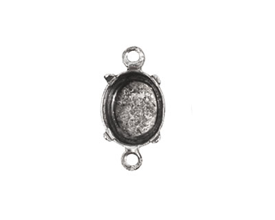 Nunn Design Antique Silver (plated) Oval Prong Setting 16x9mm