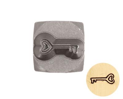 Heart Key Metal Stamp 6mm