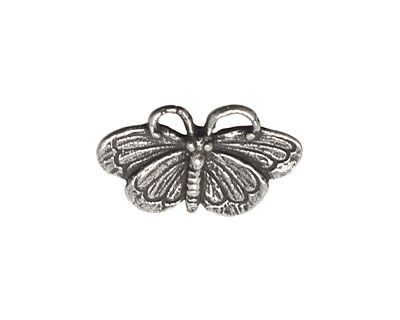 Green Girl Pewter Butterfly Button 24x15mm