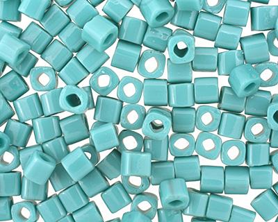 TOHO Opaque Turquoise Cube 4mm Seed Bead