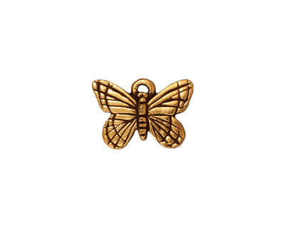 TierraCast Antique Gold (plated) Monarch Charm 16x11mm