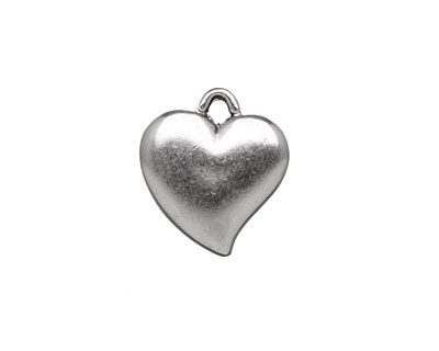 Stampt Antique Pewter (plated) Curving Heart 16x18mm
