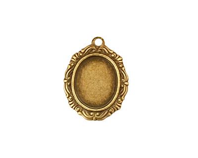 Stampt Antique Brass Damask Frame Oval Setting 10x12mm