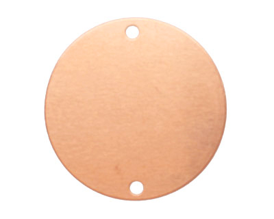 Copper Circle Blank Link 31mm