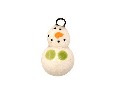 Jangles Ceramic Snowman Charm 12x22mm