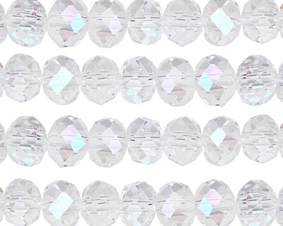 Clear AB Crystal Faceted Rondelle 8mm