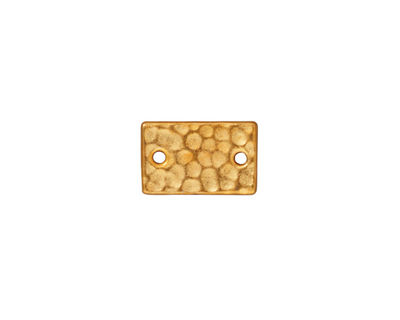TierraCast Gold (plated) Hammered Rectangle Link 13x8mm