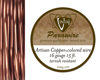 Vintaj Artisan Copper Parawire 16 gauge, 15 feet