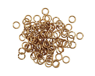 Artistic Wire Non-Tarnish Brass Chain Maille Jump Ring 3.57mm, 20 gauge
