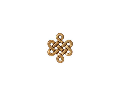 TierraCast Antique Gold (plated) Small Eternity Link 11x10mm